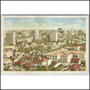 ctb06 - Cartão postal antigo, anos 60, Curitiba - Vista Parcial. Editor: Livrarias Ghignone.