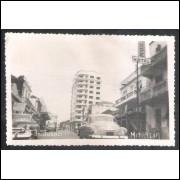Foto Postal Wessel, Rua 9 de Julho - Marília, anos 50.