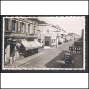 Foto Postal, anos 50, Botucatu, Rua Amando de Barros.
