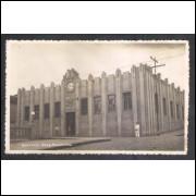 Foto Postal, anos 40, Botucatu, Paço Municipal.