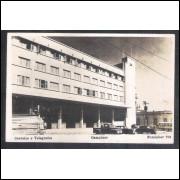 Foto Postal Fotolabor 701, anos 50, Campinas, Prédio Correios e Telégrafos.