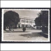 Foto Postal Wessel, anos 50, Itajaí, Praça Vidal Ramos.