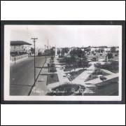 Foto Postal ano 1952 Praça Montevideu, Rio Grande.