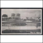 Foto Postal anos 50, Praça de Pelota, caixas d-água. Fortaleza.