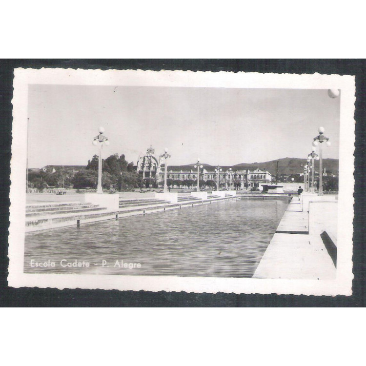 Foto Postal ano 1952, Escola Cadete, Porto Alegre.