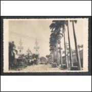 Foto Postal Ano 1951 Cuiabá, Praça da Republica, igreja.