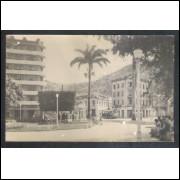 Foto Postal Vitória Ano 1951 Rua, bonde.