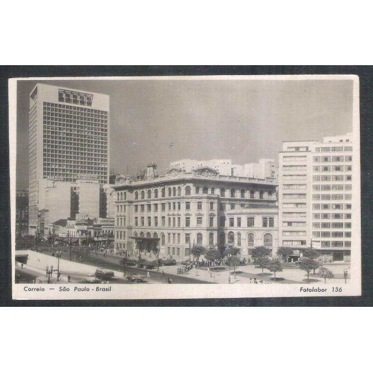 Postal Fotolabor 136 Prédio do Correio São Paulo ano 1951