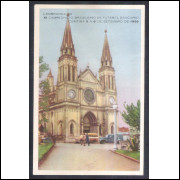 Postal Curitiba 17 Catedral, lembrança XI Campeonato Brasileiro de Futebol Bancário 1959.