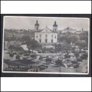 Cartão Postal ano 1948 Manaus, Praça Oswaldo Cruz, coleção Bazarfoto.