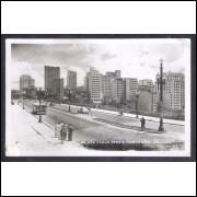 Foto Postal Colombo 93, anos 50, São Paulo, panorama, viaduto.
