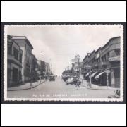 Foto Postal anos 50, Londrina, Avenida Rio de Janeiro.