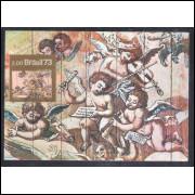 max007 - 1973 Arte Barroca, Pintura, Religião. Carimbo Comemorativo, São Paulo