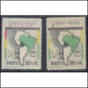 AO47E - 1943 - Cr$ 1,20 Visita do Presidente Penaranda da Bolívia. SEM COR VERMELHA.