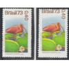 C0825Z - 1973 - Cr$ 0,40 Guará e Vitória Régia, Fauna e Flora. DESLOCAMENTO DE PICOTE.