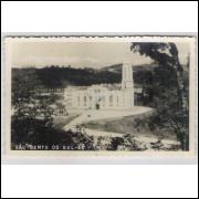 sbs01 - Foto Postal antiga - São Bento do Sul - SC, Igreja.