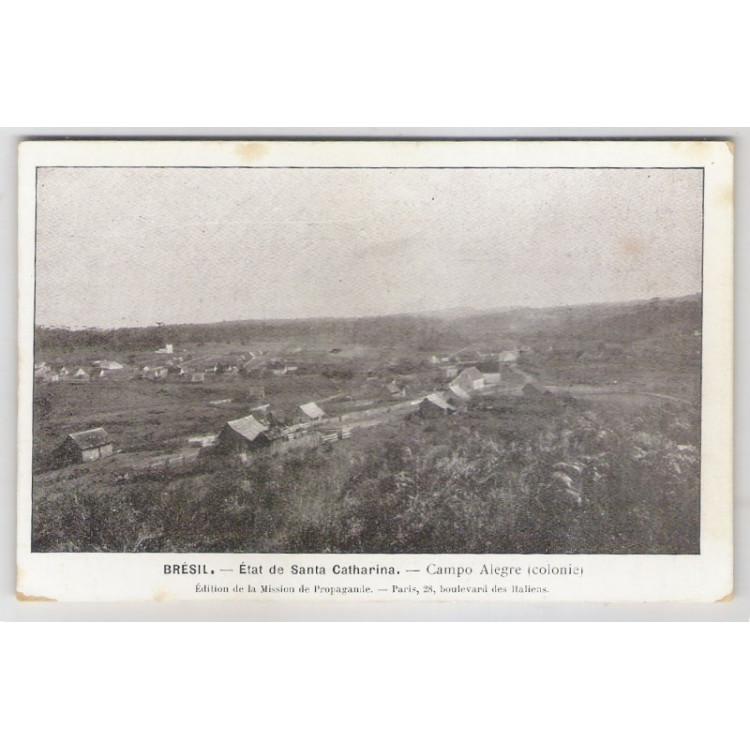 ca01 - Postal antigo - Campo Alegre (Colonia) - Santa Catharina.Édition de la Mission de Propagande.
