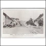 joi07 - Postal antigo - Joinville - SC, Rua com Carroças. Édition de la Mission de Propagande.