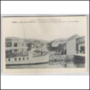 joi14 - Postal antigo - Joinville - SC. Barco. Édition de la Mission de Propagande.