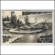 joi18 - Postal antigo (1954) - Joinville - SC. Exposição de Flores e Arte. Foto Brasil.