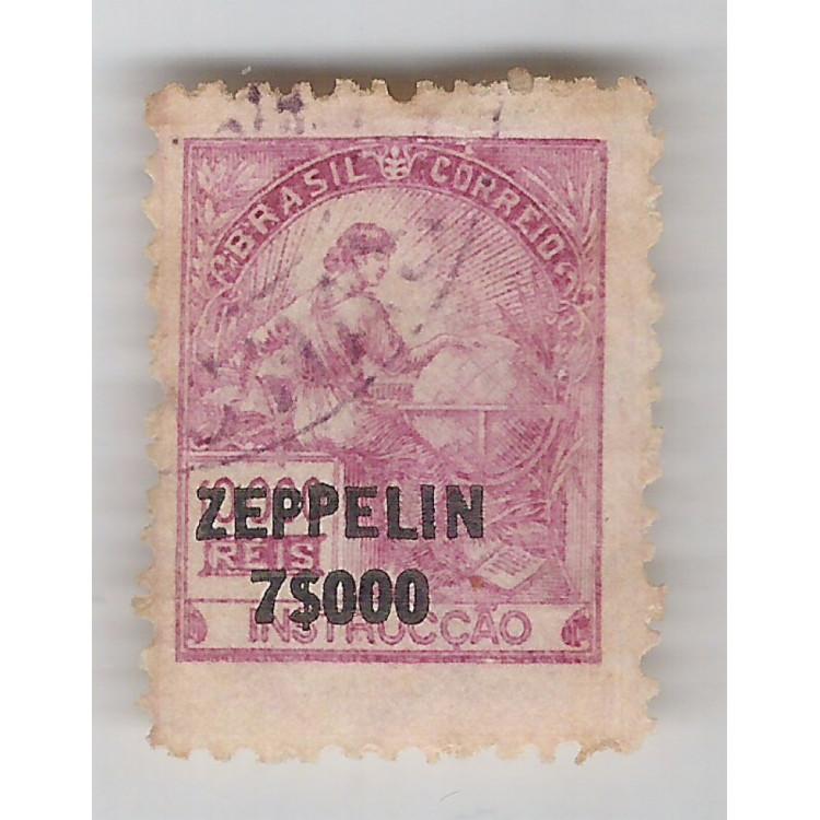 1932 - Z-13 - Serviço Aéreo Zeppelin, 7$000 sobre 10000 Réis. Carimbado. Instrução.