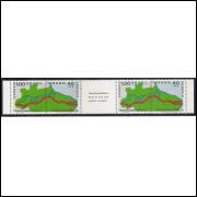 1971 - C-699-70 - Transamazônia: Brasis de terra rôxa pedindo ocupação. Tira de quatro selos.