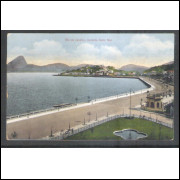 RJ152 Postal circulado em 1913, Rio de Janeiro, Avenida Beira Mar.