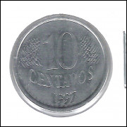 1997 - 10 Centavos, DUPLO -CENTAVOS-.