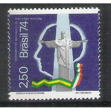1974 - C-839 - Centenário do Nascimento de Guilherme Marconi. Cristo Redentor. Rádio.