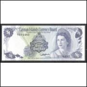 Cayman Islands (P.5) 1 Dollar 1985 fe Rainha Elizabeth II, fauna.