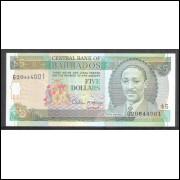 Barbados (P.47) 5 Dollars 1996 fe.