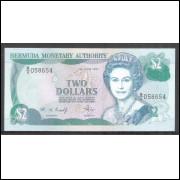 Bermuda (P.40Ab) 2 Dollars 1997, Rainha Elizabeth II fe.