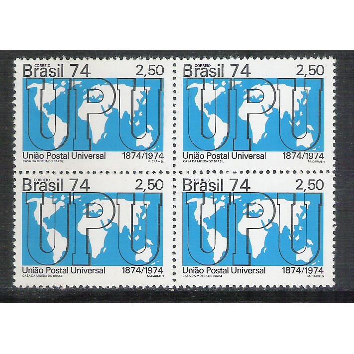 1974 - C-858q - Centenário da UPU - União Postal Universal. Mapa. Quadra.