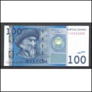 Quirguistão (P.26) - 100 Som, 2009, fe.