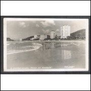 Foto Postal Colombo 6 - Santos - Praia do Guarujá, anos 50.
