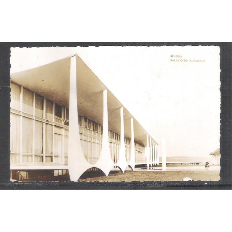 Foto Postal ano 1962 Brasília, Palácio da Alvorada.