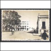 Postal Foto Brasil 13, Paranaguá, Praça Fernando Amaro, anos 50.