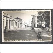 Postal Foto Brasil 20, Paranaguá, Rua Farinha Sobrinho, anos 50.