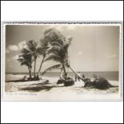 ol01 - Cartão postal antigo, Praia do Bairro Novo, Olinda - Pernambuco. Ed.: Wessel