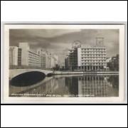re09 - Cartão postal antigo, Avenida Guararapes - Rua do Sol. Recife - Pernambuco.