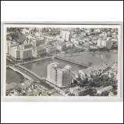 re14 - Cartão postal antigo, pontes, Recife - Pernambuco.