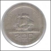1932 - Brasil, 200 Réis, Comemorativa 4o Centenário da Colonização. cuproníquel, soberba. Caravela.