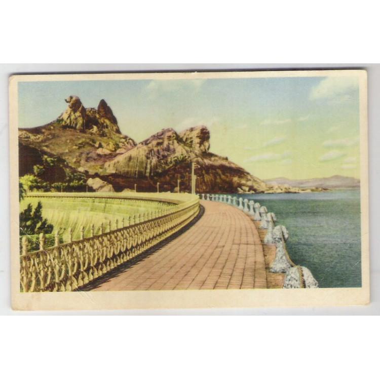 qi01 - Cartão postal antigo, Açude do Cedro. Quixadá - Ceará.