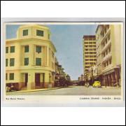 cg01 - Cartão postal circulado em 1966, com selo, Campina Grande - Paraíba, Rua Maciel Pinheiro.