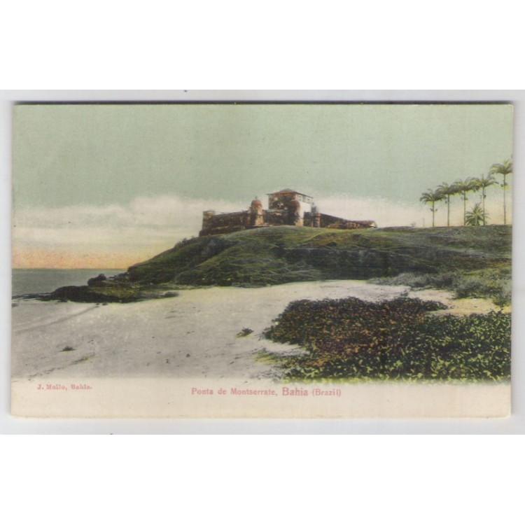sa09 - Cartão postal antigo, Ponta de Montserrate, Bahia. Ed. J. Mello.