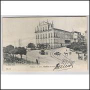 sa10 - Cartão postal antigo, 1910, Theatro S. João, Bahia. Ed. J. Mello.