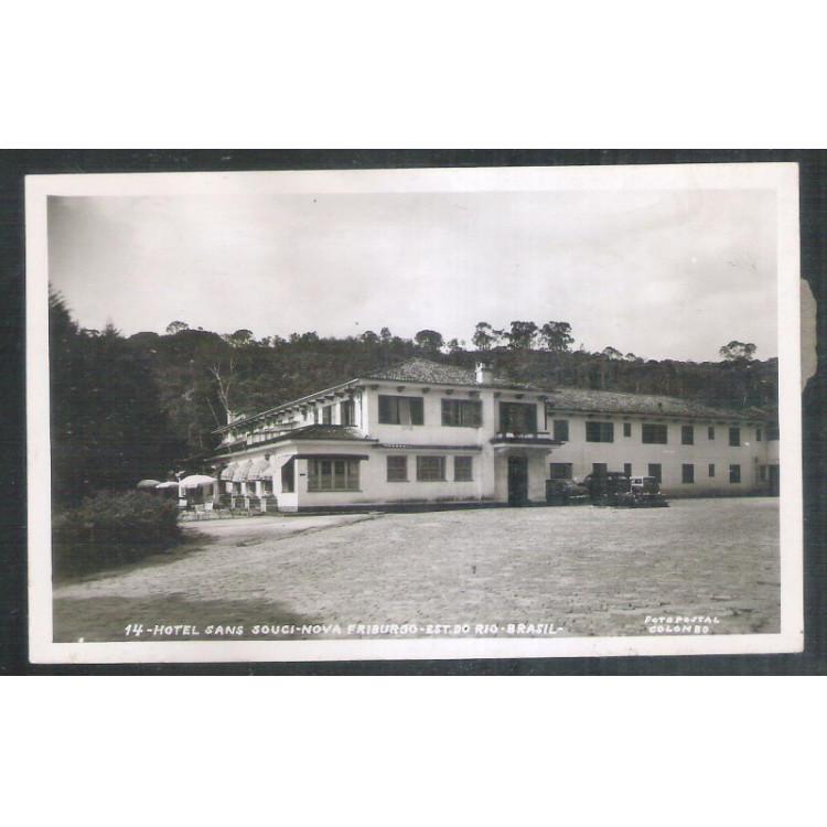Foto Postal Colombo 14 - Nova Friburgo, Hotel Sans Souci, anos 50
