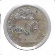 Portugal, 2 1/2 Escudos, 1943, prata .650, mbc. Caravela, embarcação.
