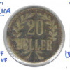 German East Africa, 20 Heller, 1916, bronze, bc/mbc.