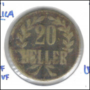 German East Africa, 20 Heller, 1916, bronze, bc/mbc.